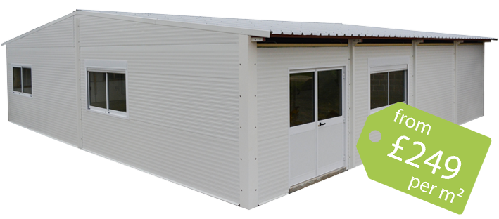 Outside Prefabricated Buildings