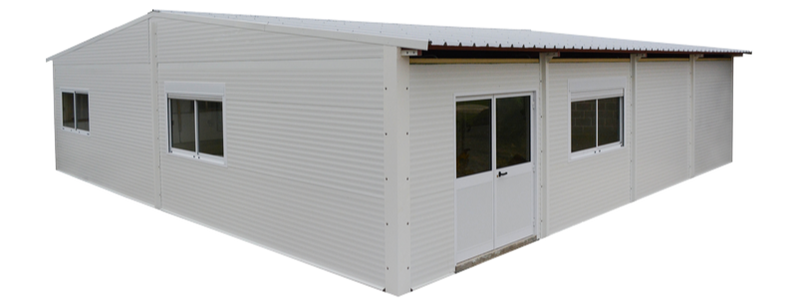 Outside Prefabricated Building